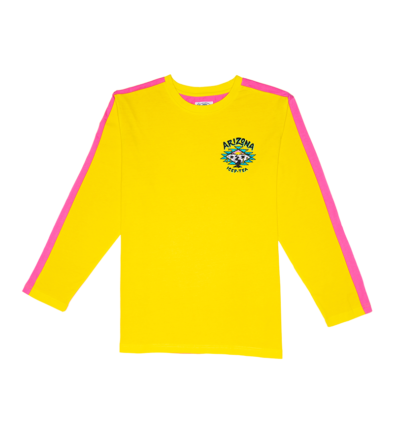 Skater Yellow/Pink L/S T-Shirt
