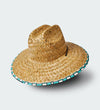 Checkered Straw Hat