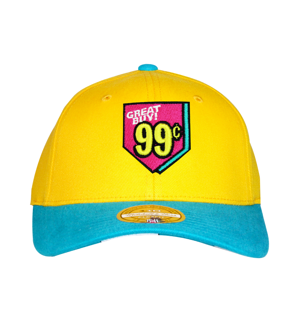 Mitchell & Ness Flexfit Hats - Yellow / Aqua