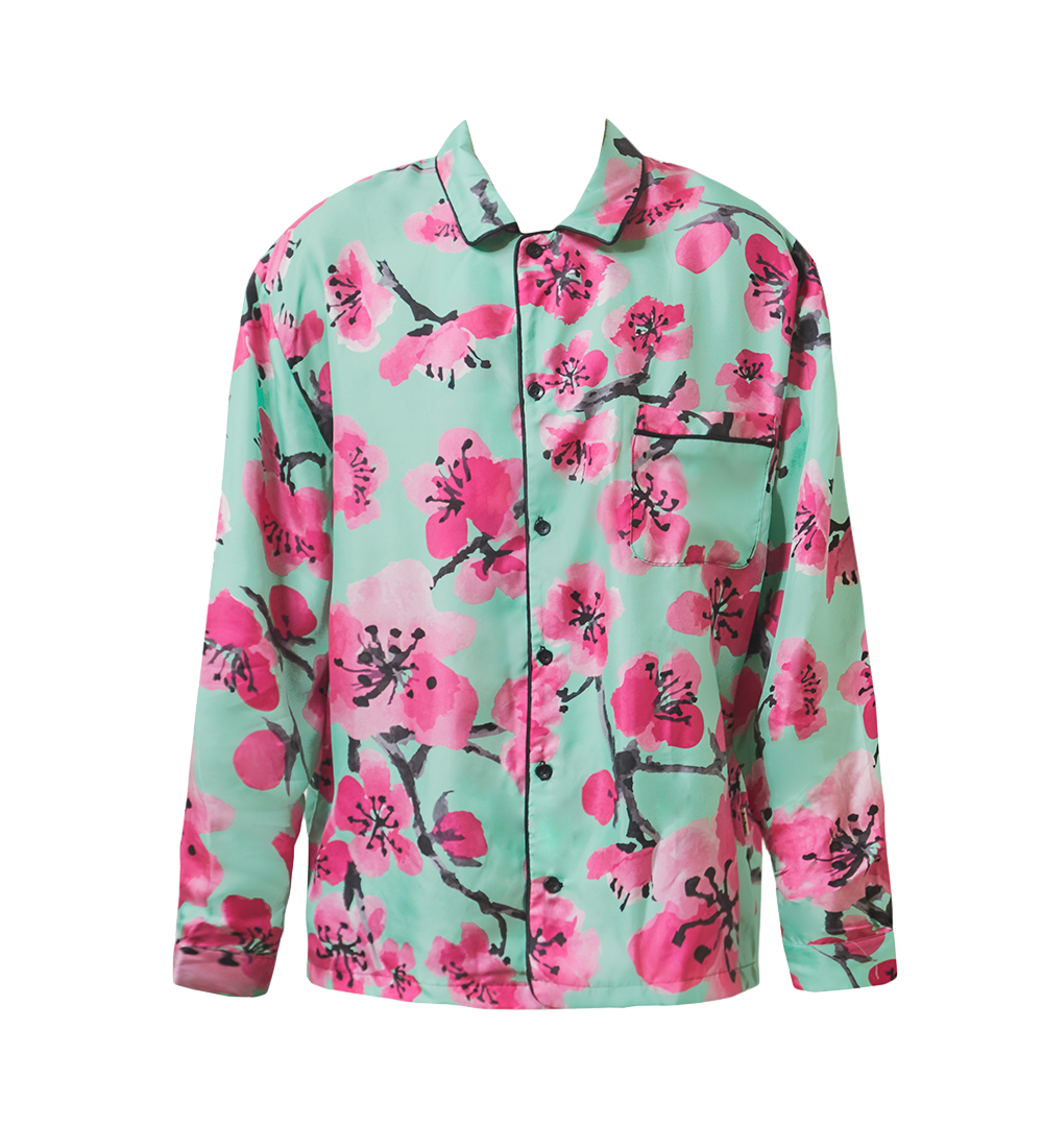 Blossom Silk Pajama Top