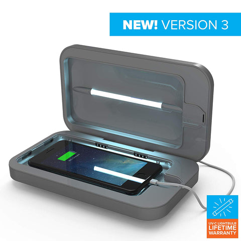 PhoneSoap 3 UV Cell Phone Sanitizer with Cell Phone Charger