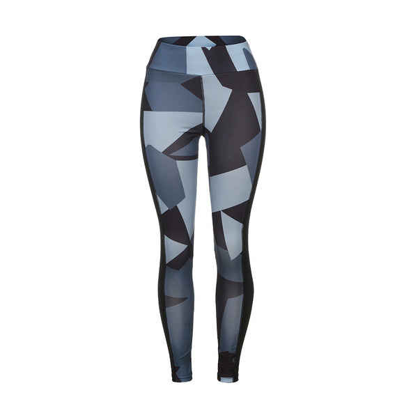 Wide Camouflage Pattern Fitness Leggings