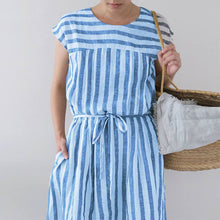 Casual Loose Stripe Maxi Dresses