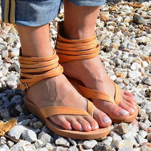Women Pu Sandals Casual Flip Flops Zipper Shoes