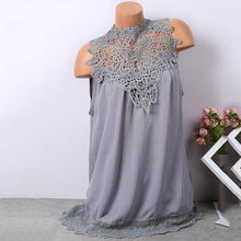 Lace Hollow Sleeveless Blouse