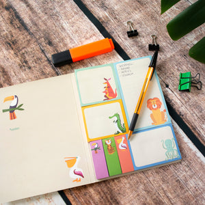 Colourful creatures memo pad