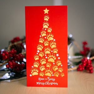 Tree of paws Christmas cards