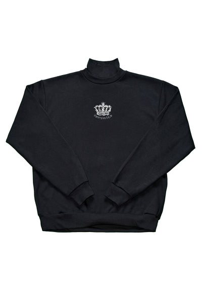 Dents de Scie® Baba Yaga's Crown Sweat-shirt Col roulé Noir - DENTSDESCIE