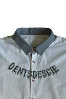 "Dents de Scie® ""Monster Fangs"" chemise à rayures - DENTSDESCIE"