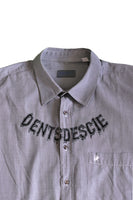 "Dents de Scie® ""Monster Fangs"" chemise grise - DENTSDESCIE"
