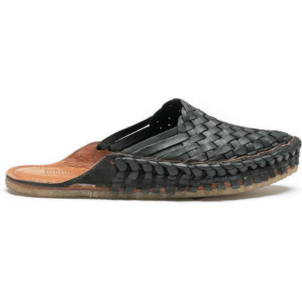 Woven Mohinders- dark oiled leather
