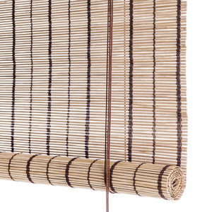 Brown striped bamboo blinds Color& Co
