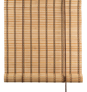 Brown thick bamboo blinds exclusive Color& Co