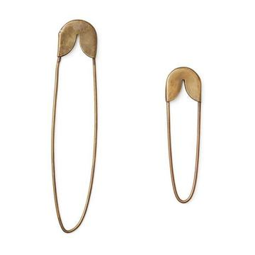 brass safety pin small