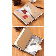 Load image into Gallery viewer, Midori Grid Refill Zipper/Card file Traveler's notebook Passport Size