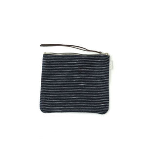 Canna pouch navy pin stripe