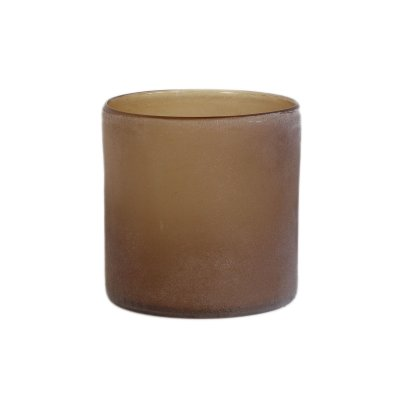 Frost candle holder brown M