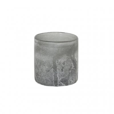 Frost candle holder grey S