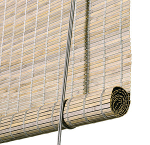 Grey stained thick bamboo blinds Color& Co