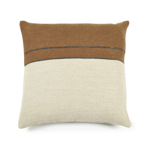 Gus cushion- Beeswax stripe