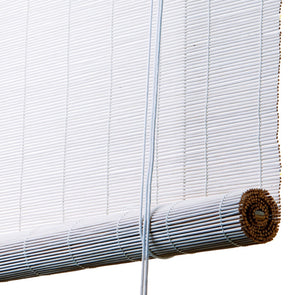 White bamboo blinds Color& Co