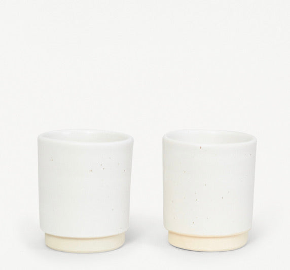Otto cup white- set of two