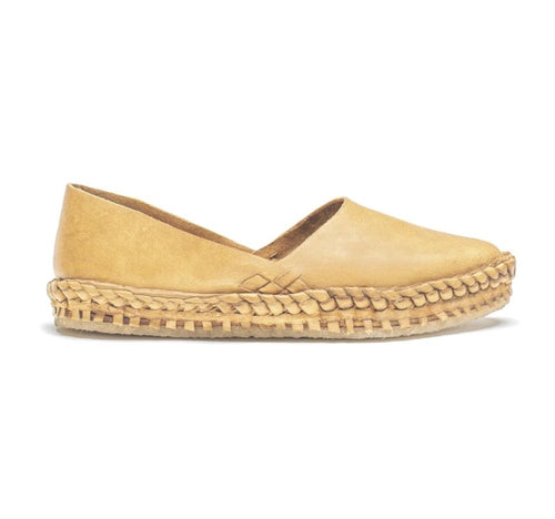 Solid flat Mohinders- natural leather
