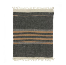 Load image into Gallery viewer, Belgium Fouta - Black stripe