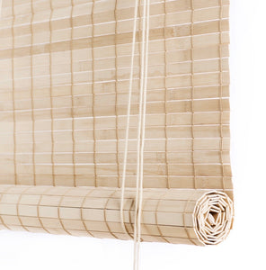 Light brown thick bamboo blinds Color& Co