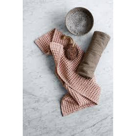 Big Waffle Kitchen and Wash Cloth- Grey