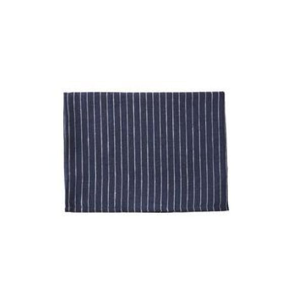 Linen kitchen cloth- navy pin stripe
