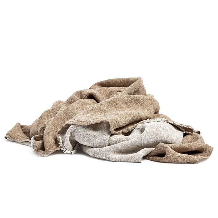 Linen throw cinnamon 145 x 270 cm