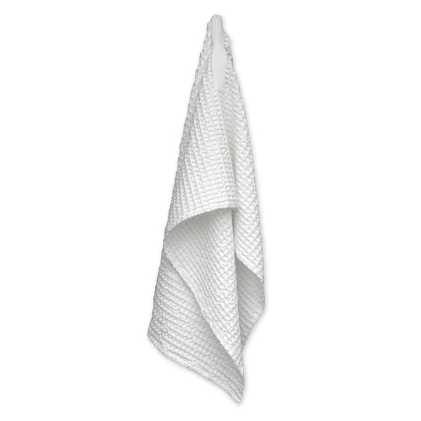 Medium organic cotton waffle towel- White