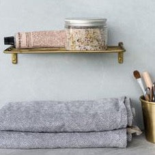Brass wire shelf- Fog linen