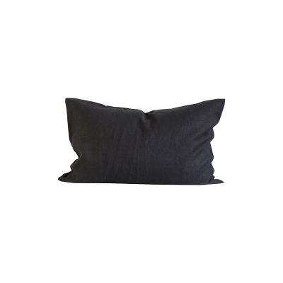 Cushion cover L stonewashed linen- Carbon 60x 90 cm