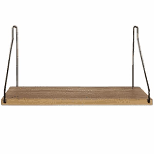 Shelf D20 W40 cm-black brackets