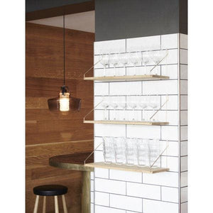 Shelf D20 W60 cm-brass brackets