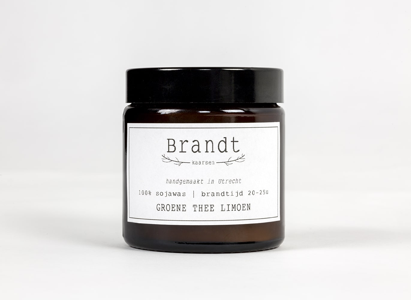 Green Tea Lime Soy candle- Brandt