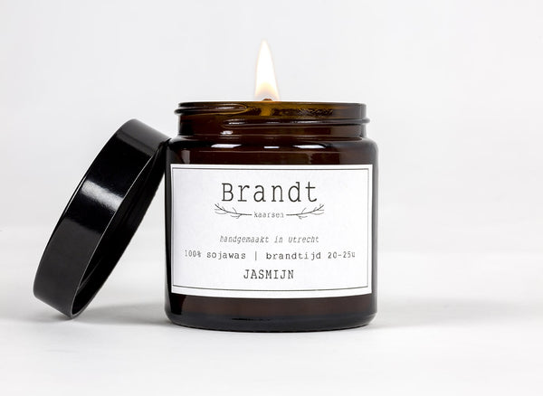 Jasmine Soy candle- Brandt