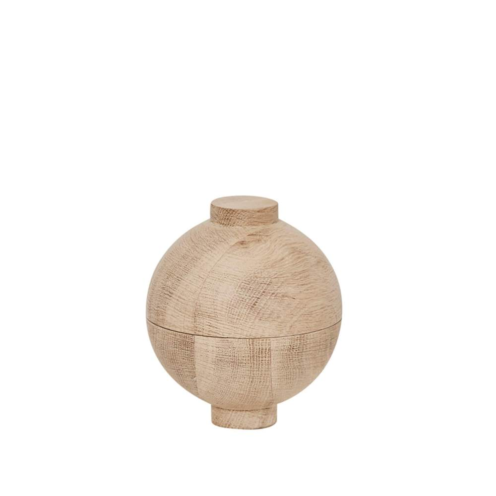 Wooden sphere oak display unit