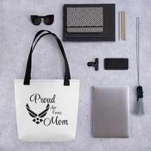 Load image into Gallery viewer, Proud Air Force Mom Tote bag