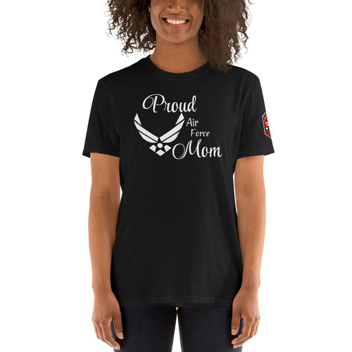Proud Air Force Mom Short-Sleeve Unisex T-Shirt
