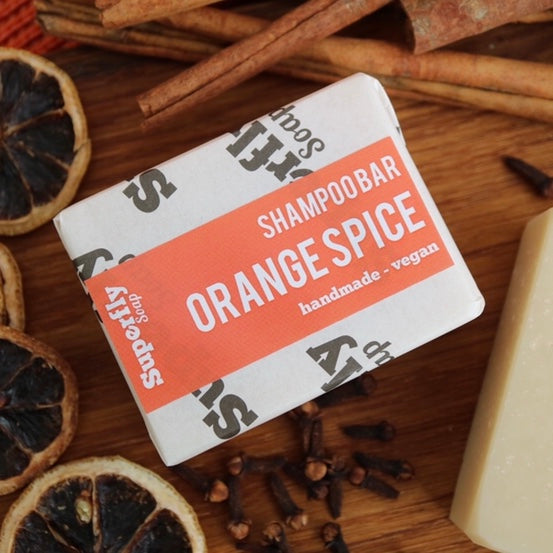 Orange Spice Solid Shampoo Bar