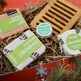 Lemongrass Eco-Friendly Soap, Lip & Hair Christmas Gift Set