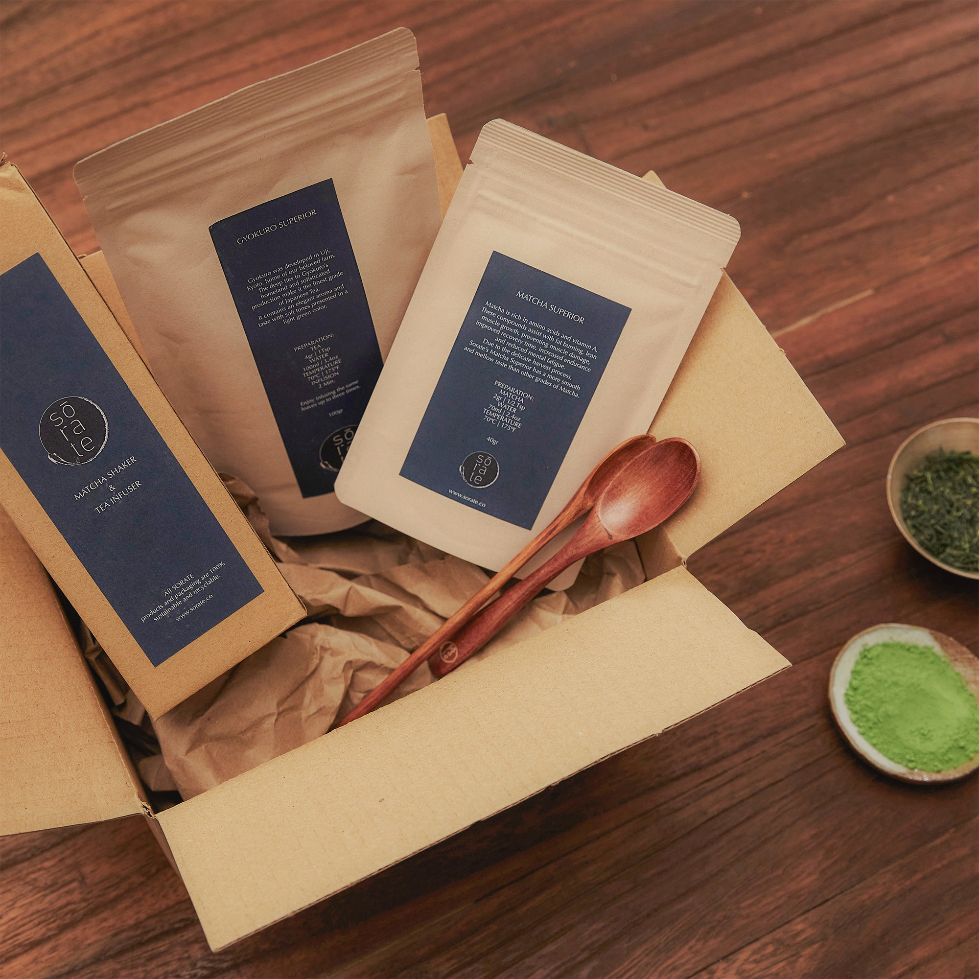 MATCHA AND GREEN TEA BOX - one time purchase - sorate