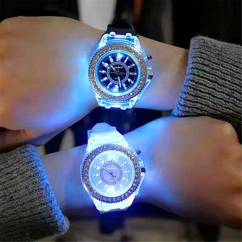 LED Flash Luxurious Watch