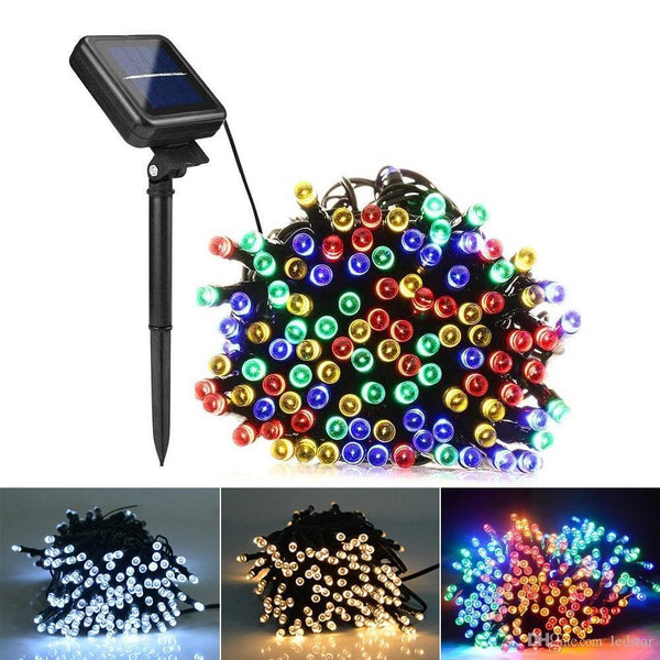 DECORATIVE SOLAR CHRISTMAS LIGHTS (COLORFUL-100 LED) BUY 1 GET 1 FREE