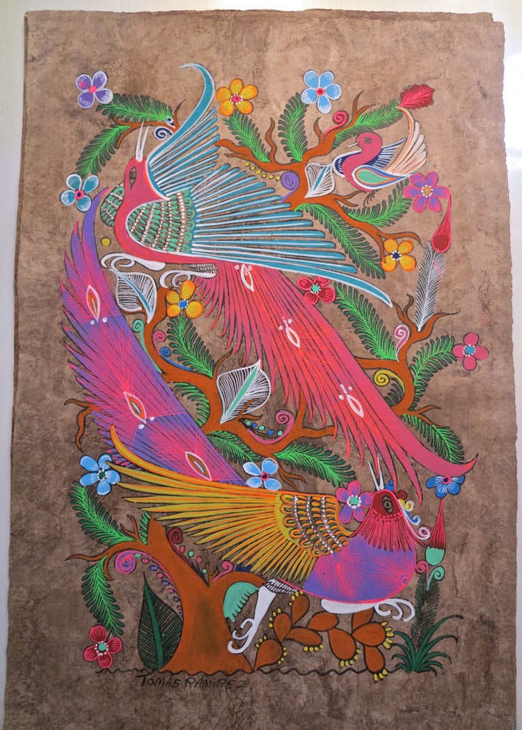 T. Ramirez - original works on handmade amate paper - image D