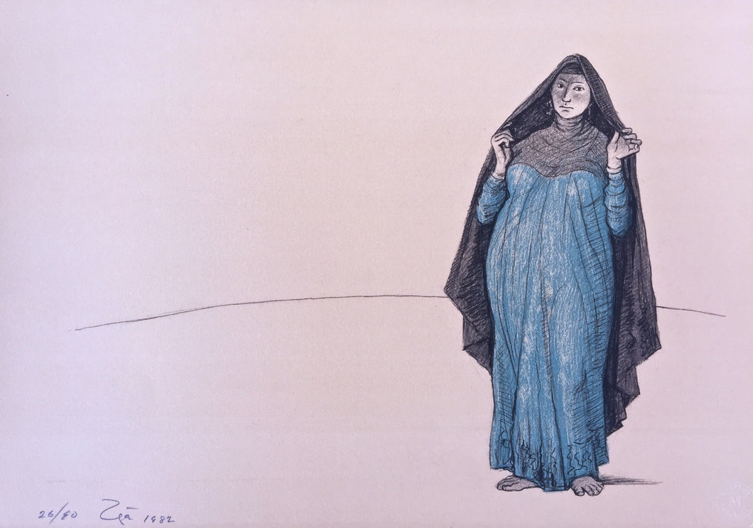 Zuniga lithograph from the Impressions of Egypt suite - image I
