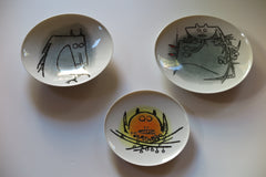 Ceramica di Albisola - set of three ceramics - in porcelain